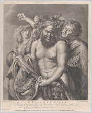 Bacchus accompanied by a Bacchante and a faun