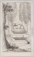 Cat atop a tomb