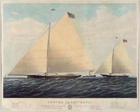 "Cutter Yacht ""Scud"" of Philadelphia - Modelled by Robert L. Stevens"