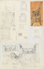 Scrapbook containing Drawings and Several Prints of Architecture