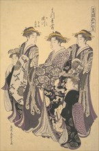 The Oiran Segawa of Matsubaya (the House of Pine)