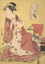 The Courtesan Hinazuru of the Chojiya Brothel (Chojiya Hinazuru)
