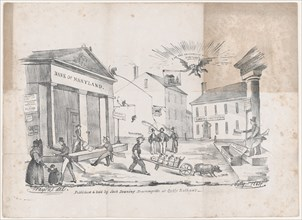 Caricature of a Bank of Maryland Crisis