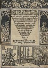 Libbretto nouellamete composto per maestro Domenico da Sera...lauorare di ogni s...