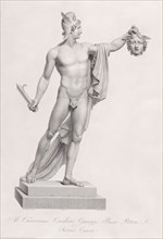 """Perseus with the head of Medusa. from """"Oeuvre de Canova: Recueil de Statues ..."""""""