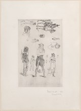 Sheet of sketches (Feuille de Croquis)