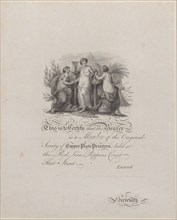 Certificate of Membership of the Society of Copper-Plate Printers