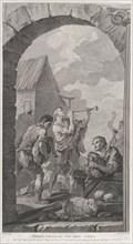 The Chapel of the Enfants-Trouvés in Paris: Groupe des bergers: joueurs de trompes et de m...