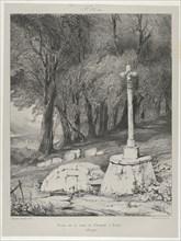 Croix sur la route de Clermont à Royal