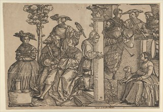 Musicians and Onlookers. Creator: Hans Schäufelein the Elder.