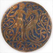 Medallion with Man Fighting Basilisk