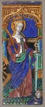 Triptych Panel with Saint Catherine
