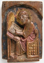 Miniature Relief of a Saint Luke at His Writing Table