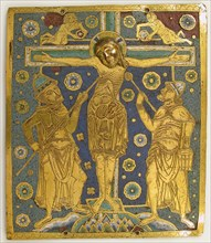 Plaque with the Crucifixion between Longinus and Stephaton and Personifications...