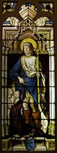 Stained Glass Panel with Saint Roch