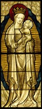 Stained Glass Panel with the Virgin and Child