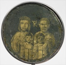 Medallion with Family Portrait