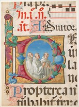 Manuscript Illumination with Singing Monks in an Initial D