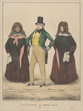 "Vive la France, ""French"" Style in Broadway, 1840."