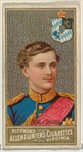 King of Bavaria, from World's Sovereigns series (N34) for Allen & Ginter Cigarettes, 1889.