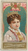 Queen of Portugal, from World's Sovereigns series (N34) for Allen & Ginter Cigarettes, 1889.