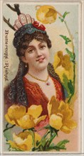 Buttercups: Riches, from the series Floral Beauties and Language of Flowers (N75) for Duke brand cigarettes, 1892.