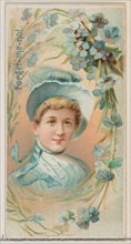 Forget-Me-Not, from the series Floral Beauties and Language of Flowers (N75) for Duke brand cigarettes, 1892.