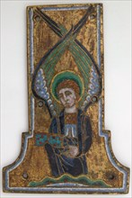 Plaque from a Cross with the Winged Man of Saint Matthew, French, ca. 1185-95.