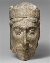 Head of a King, French, ca. 1150-75.