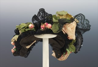 Evening bonnet, American, ca. 1895.