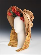 Wedding bonnet, American, 1837.