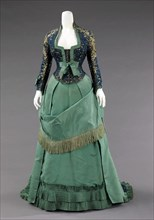 Afternoon dress, French, ca. 1875.