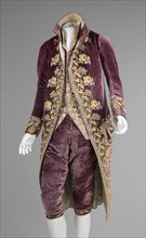 Court suit, French, ca. 1810. Men's court wear during the time of Napoleon Bonaparte (1769-1821).