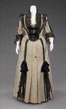 Dinner dress, French, 1880-90.