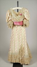 Evening dress, French, 1896-97.