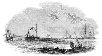 "The ""John O'Gaunt"" being towed to destruction, 1844. Creator: Unknown."