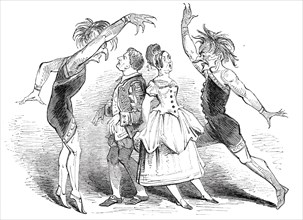 """Scene from """"The Castles of the Seven Passions"""", at the Lyceum Theatre, 1844. Creator: Unknown."""