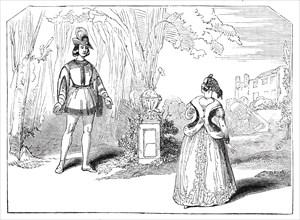 "Scene from ""Graciosa and Perciney"", at the Haymarket Theatre, 1844. Creator: Unknown."