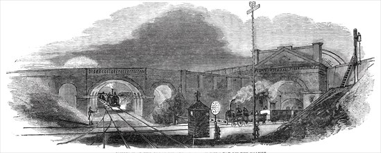 Junction of the Great Western Railway with the London Branch, 1844. Creator: Unknown.
