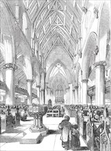 Interior of St. Giles's Church, Camberwell, 1844. Creator: Stephen Sly.