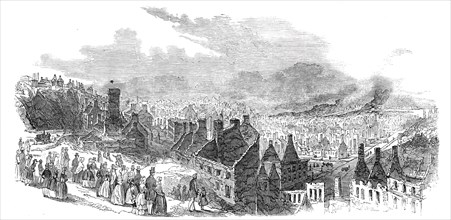 St. Rocks, Quebec, after the late fire - sketched by a correspondent, 1845. Creator: Unknown.