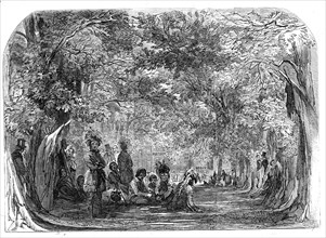 The Fete Champetre at Charlton House - the North American Indians encamped in the park - sketched by Creator: Unknown.