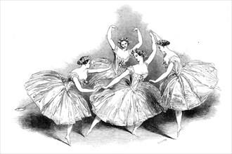 New pas de quatre...at Her Majesty's Theatre, 1845. Creator: Unknown.