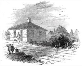 Ickleton Station, 1845. Creator: Unknown.
