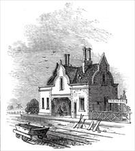 Thetford Station, 1845. Creator: Unknown.