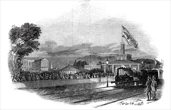Arrival of Her Majesty at Bruhl, 1845. Creator: Unknown.