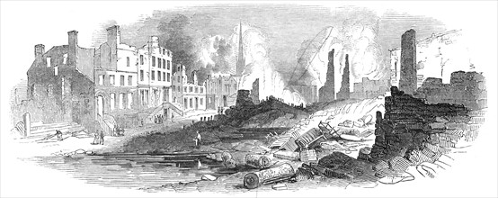 Broad-Street, New York, after the recent fire, 1845. Creator: Unknown.