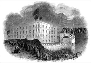 Torch-light concert at Mayence, 1845. Creator: Ebenezer Landells.