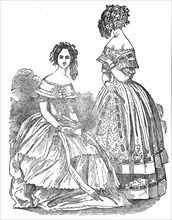 Fashions for September, 1845. Creator: Unknown.
