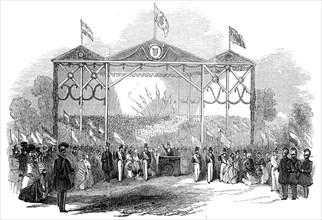 Grand Musical Festival, at Gotha, 1845. Creator: Unknown.